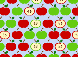 green and red apples clipart. apples pattern blue green and red clipart