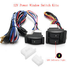 popular power window wiring buy cheap power window wiring lots universal 12v power window glass lock rocker lift switch wiring harness kits for chevrolet