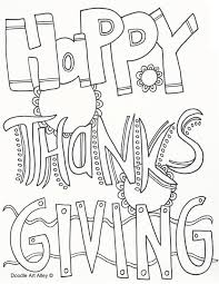 Happy Thanksgiving Coloring Pages Doodle Art Alley