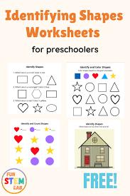 Shape identification preschool shapes worksheets for kindergarten. Identifying Shapes Worksheets For Preschoolers My Blog