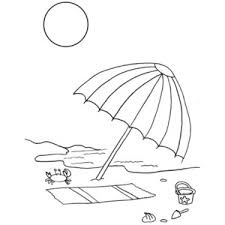 Small Picture A Kids Drawing Of Beach Umbrella Coloring Page Polyvore