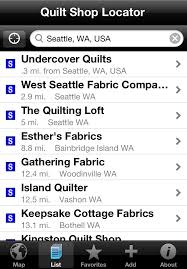 Quilt Shop Locator - iPhone, iPod Touch and iPad Apps by Mapmuse & Screenshots Adamdwight.com