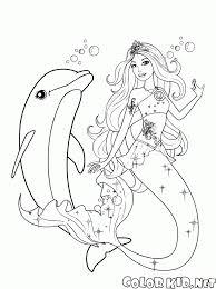 Disegni Da Colorare Nuoto Sirena In Mare