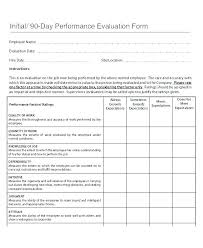 Performance Appraisal Sample Form Self Performance Review Template Day Employee Download