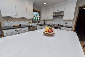 view larger image kitchen remodeling ideas wood cabinetry light quartz aurora naperville illinois