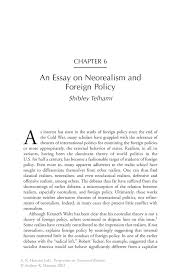 foreign policy essays an essay on neorealism and foreign policy  an essay on neorealism and foreign policy springer inside