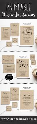 invitation t beautiful rustic wedding invitations editable instant download