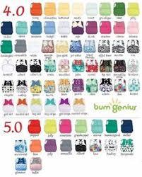 Bumgenius Color Chart 2017 Fascia Gravidanza Bimbi