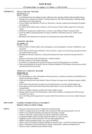 sample athletic resumes athletic trainer resume samples velvet jobs