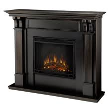 ashley electric fireplace mantel in black wash photo of product