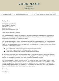 Space X Cover Letter Free Professional Cover Letter Templates Word Download