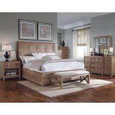 Medium Oak Bedroom Furniture Art Furniture 192155 2303 Ventura Queen Platform Sleigh Bed In