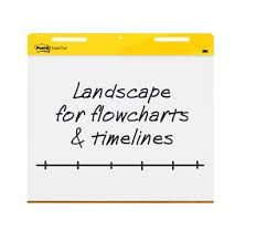 Post It Easel Pad Landscape Format 30 In X 23 5 In White
