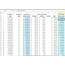 5 Year Amortization Schedule Excel Excel Loan Payment Template Amortization Schedule Create Car
