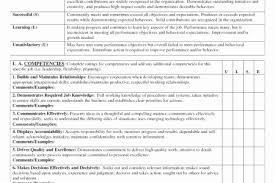 Job Performance Evaluation Form Templates Inspiration Employee Performance Review Template Word Interior Performance