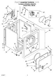 whirlpool wp3406105 dryer door switch assembly part diagram