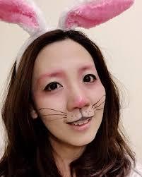 bunny face makeup