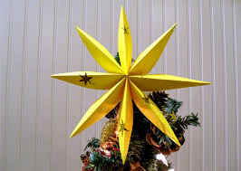 Paper Christmas Tree Ornaments How To Fold A Star For Christmas Tree Or Decoration Youtube
