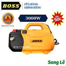 Máy Rửa Xe BOSS 3000W - ĐỒNG 100% - Chỉnh Áp - Tặng đủ phụ kiện - Máy xịt  rửa