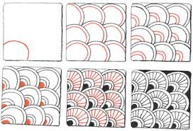 Zentangle Patterns Step By Step Fascinating Judy's Zentangle Creations some patterns to use