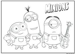 Coloring Pages To Print Minions Free Minion Coloring Pages Fresh