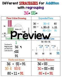 Addition With Regrouping Anchor Charts Worksheets Teaching