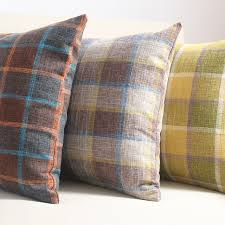 plaid decorative pillows. Delighful Pillows Yellow LinenBlended Fabric Cushion Cover Sofa Office Decorative Plaid  Throw Pillows Cushions Without Throughout