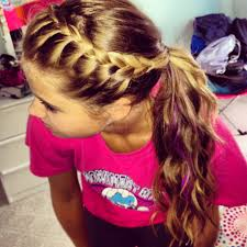 Braided Bangs Hairstyles French Braid Your Bangs And Pull Back Into Ponytail Easy To Do