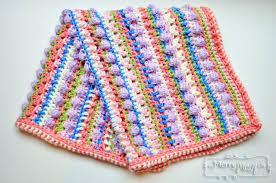 Free Crochet Patterns For Baby Blankets Delectable Sugar Love Baby Blanket Free Crochet Pattern My Merry Messy Life