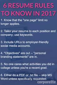 resume rules for that you not know about resume rules to know in 2017