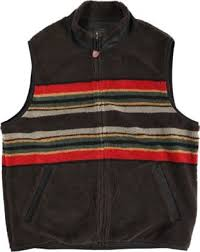 Pendleton Shirt Size Chart Camp Stripe Fleece Vest Jacket