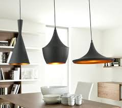 white pendant light with gold inside black white 3 pieces set metal pedant lights by famous