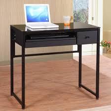 Black Glass Computer Desk Combine