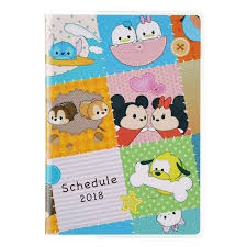 TSUM TSUM 2018 Schedule Notebook A6 Monthly Disney Store Japan ...
