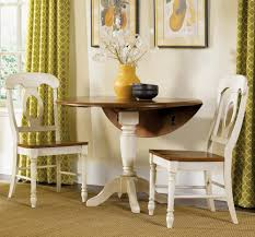 Painted Round Kitchen Table Simple Kitchen Dinette Set Design With Two White Painted Wooden