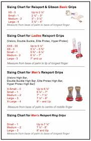 The Buckle Size Chart Reisport Grips Size Charts