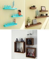 wooden shelves wall racks