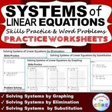 systems of linear equations homework