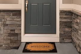 house front door open. Front Door And Doormat. An Open House Front