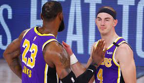 NBA Finals - Alex Caruso steht mit den Los Angeles Lakers kurz vor dem  Titelgewinn: