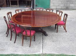 huge round georgian table 7ft diameter round regency revival mahogany antique dining table to seat 12 to 14 people