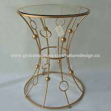 china coffee table metal gold end table round