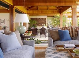 View in gallery Tropical style patio with an oversized table lamp