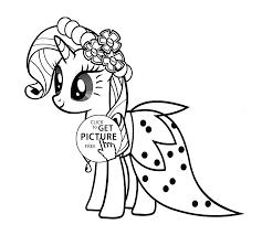 Stylish Rarity My Little Pony Coloring