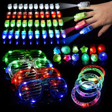 Glow Light Toys Details About 60 Pcs Led Light Toys Glow Stick Party 40 Finger 12 Flashing Bumpy Rings Favors