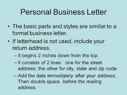 Personal Business Letter Block Style Formatting Letters Full Block Business Letters All Parts Begin At