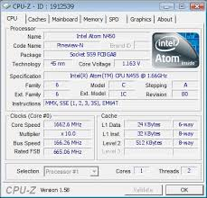 baurk`s CPU Frequency score: 1663 mhz with a Atom N455