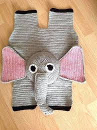 elephant rug nursery baby by for crochet