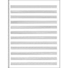 Music Sales Passantino Manuscript Paper 65 12 Stave 32 Page Spiral 9x12