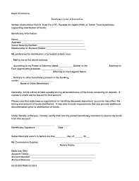 Beneficiary Letter Of Instruction Documents